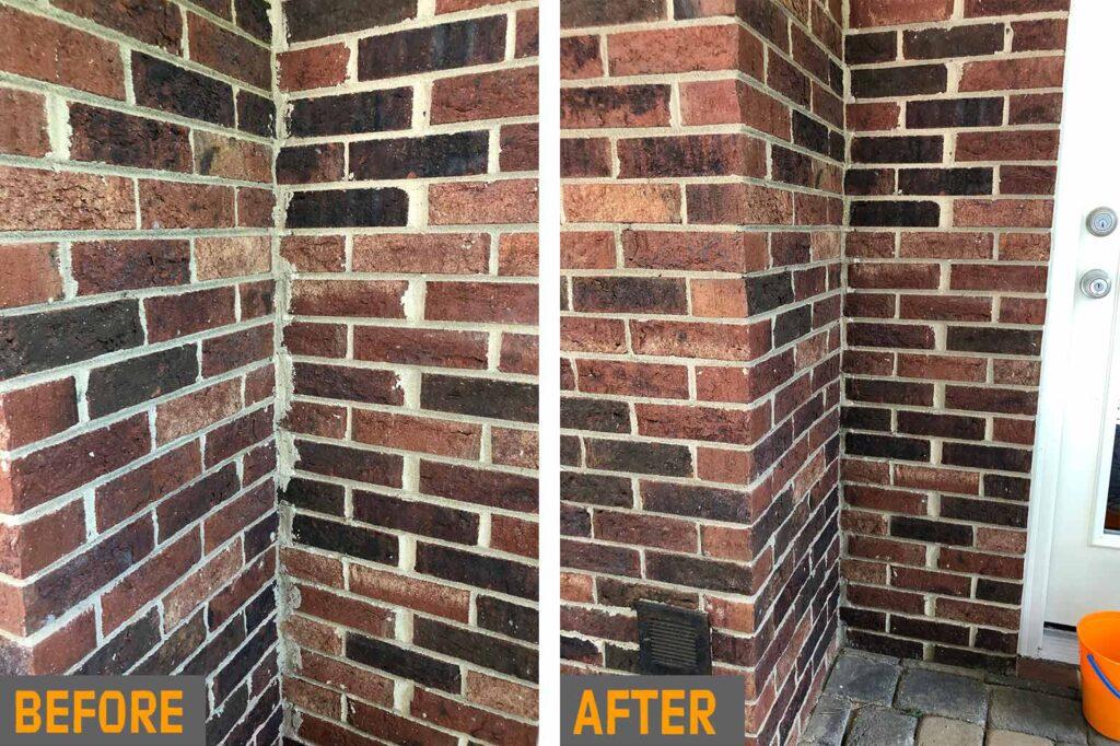 outdoor brick wall